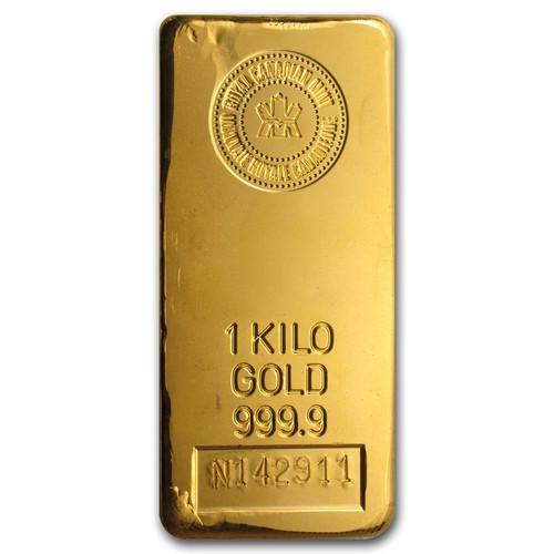 Royal Canadian Mint 1 kilo Gold Bar