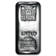 Republic Metals Corporation 1 kilo Silver Bar