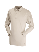 Tru-Spec Men's Long Sleeve Performance Polo - Silver Tan