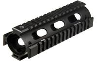 Leapers UTG PRO Model 4/AR15 Car Length Drop-in Quad Rail, Black