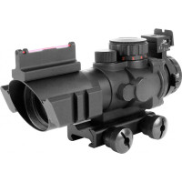 AIM Sports Recon 4X32MM Scope with Fiber Optic Sight and Arrow Reticle
