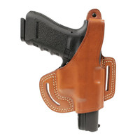 Blackhawk Leather Slide Holster with Thumb Break - Brown