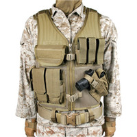 Blackhawk Omega Elite Cross Draw/ Pistol Mag Vest - Coyote Tan