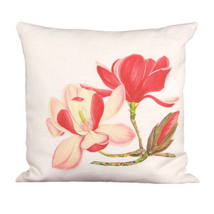 Pink Magnolia Ox Bow Pillow