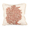 Red Coral Ox Bow Linen Pillow