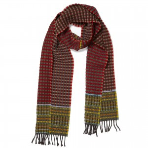 Wallace Sewell Scarf- Lambswool Dot (Red)