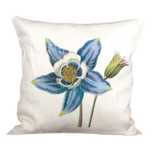 Columbine Ox Bow Linen Pillow
