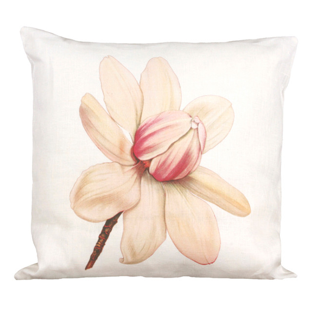 White Magnolia Oxbow Pillow