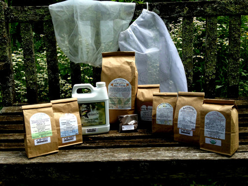 All the essential elements for up to 70 gallons of outstanding home brewed compost teas