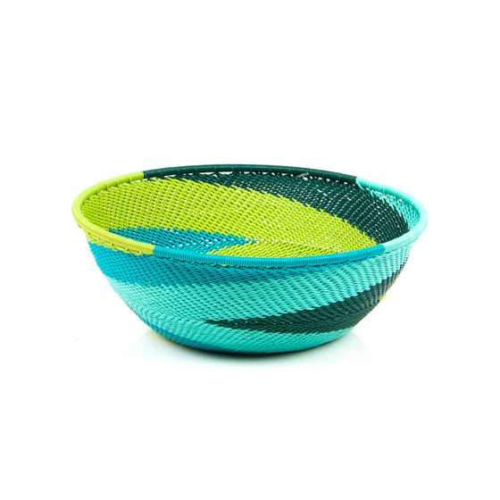 Large Shallow Bowl - African Spring - Eve & Nico
