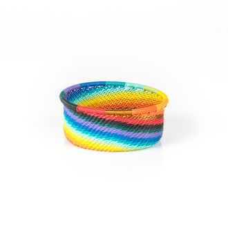 Extra Small Telephone Wire Bowl - Rainbow