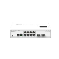 MikroTik 8 Port 2 SFP+ Port Cloud Router Switch, CRS210-8G-2S+IN