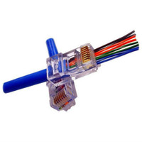 Primus RJ45 Connector, 100PK - EZ-RJ45 CAT 5E for Round Solid and Stranded Cable, CN1-3002-Z5