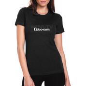 6abc Women's Black Tone on Tone Next Level Short Sleeve T-Shirt