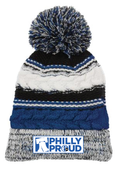 6abc Philly Proud Adult Pom Pom Beanie