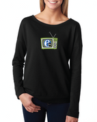 6abc Women's Retro TV Next Level French Terry Long-Sleeve Scoop