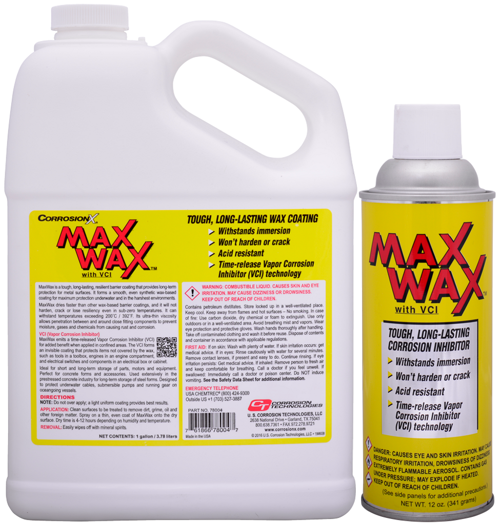 MaXWaX dry film corrosion preventive coating with VCI technology