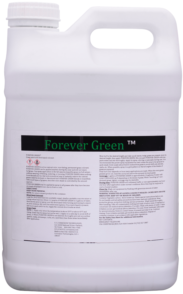 Non-fading, permanent grass colorant