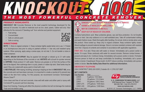 Knockout 100™ (concrete remover)