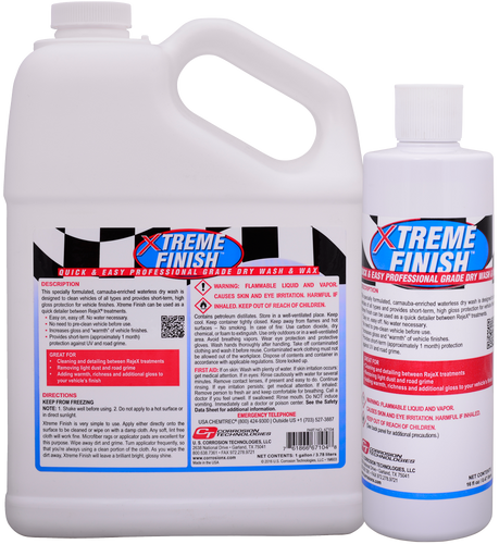Xtreme Finish one-step dry wash and speed wax