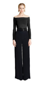 Oscar de la Renta Off-The-Shoulder Crisscross-Back Knit