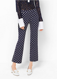 Michael Kors Polka Dot Cotton-Matelassé Pants