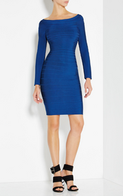 Herve Leger Candice Off-The-Shoulder Bandage Dress