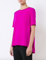 Adam Lippes Satin Back Crepe T-Shirt