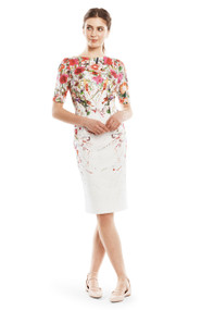 Lela Rose Wildflower Boatneck Dress