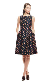 Lela Rose Puckered Tulip Full Skirt Dress