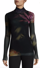 Fuzzi Floral Turtleneck Top