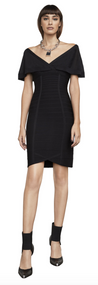 Herve Leger Caitlin Bandage and Sheer Jersey Dress