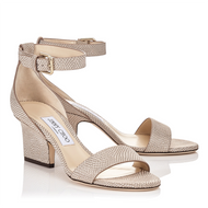 Jimmy Choo Edina Nude Metallic Sandal