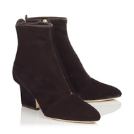 Jimmy Choo Autumn Dark Mink Velvet Bootie