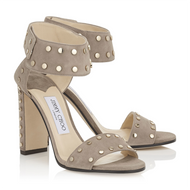 Jimmy Choo Veto Light Mocha Suede Sandal