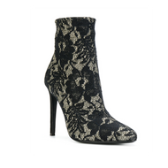 Giuseppe Zanotti Mariotte Black and Gold Shimmer Lace Bootie