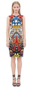 Roberto Cavalli Flying Wings Print Dress