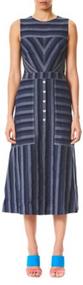 Carolina Herrera Striped Denim Dress