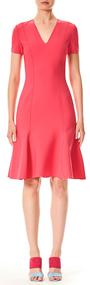 Carolina Herrera V-neck Short Dress