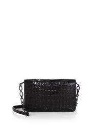 Nancy Gonzalez Black Shiny Wallet on a Chain