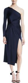 Cushnie Et Ochs Poppy One Shoulder Dress with Twist Detail