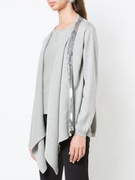 Oscar de la Renta Sequin-Embellished Draped Pullover
