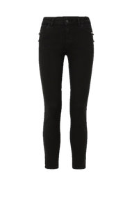 Dorothee Schumacher Garment Dyed Denim Pants with Studs