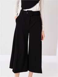 Oscar de la Renta Cropped Wide Leg Pants