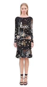 Roberto Cavalli Shells Print Dress