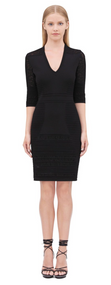 Roberto Cavalli Short Knitted Dress with Animal Print Lace