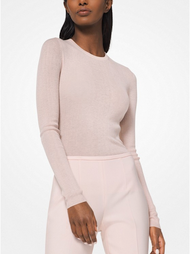 Michael Kors Featherweight Blush Cashmere Pullover