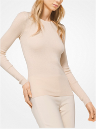 Michael Kors Featherweight Nude Cashmere Pullover