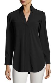 Chiara Boni La Petite Robe Nero Atena Collared Shirt