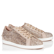 Jimmy Choo Cash Ballet Pink Shadow Coarse Glitter Low Top Trainer
